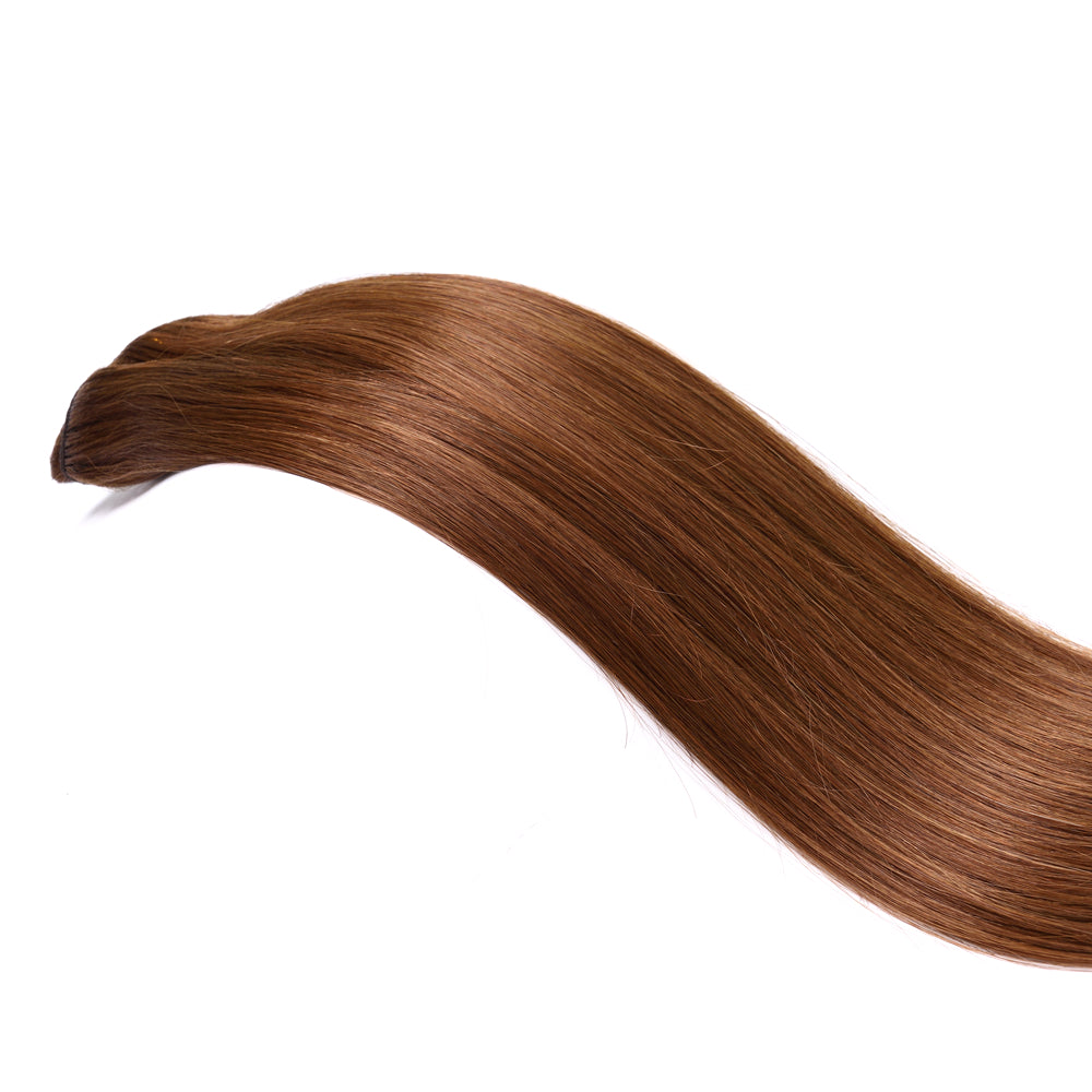 #6 Chestnut Brown | Clip-in Extensions - tape in clip in hair extensions اکستنشن طبیعی شعر طبيعي