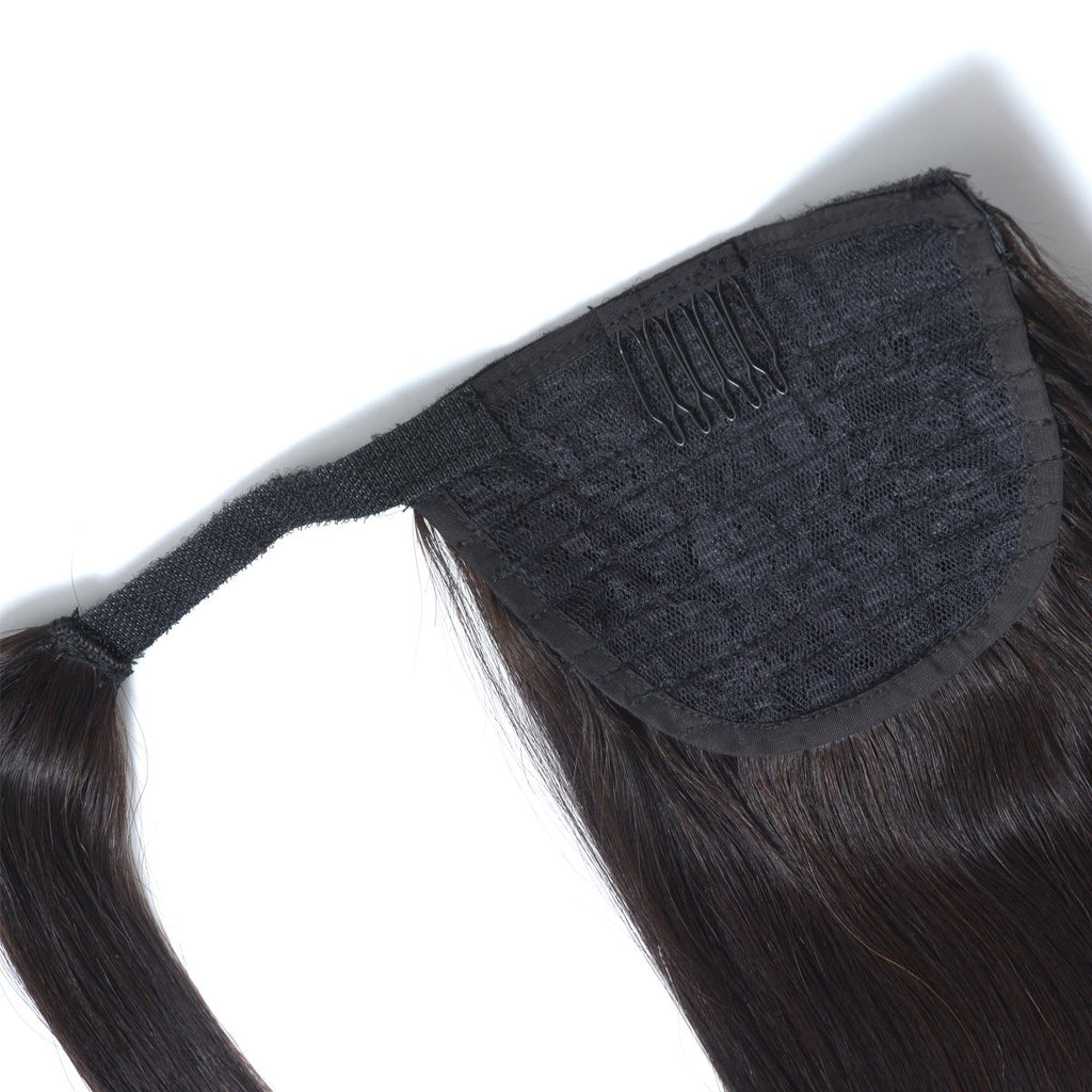 Ponytail Extension (Jet Black) - tape in clip in hair extensions اکستنشن طبیعی شعر طبيعي