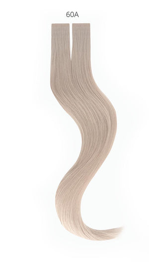 Luxury Virgin Tape-in Extensions (#60A- Platinum Blonde) - tape in clip in hair extensions اکستنشن طبیعی شعر طبيعي
