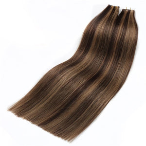 Luxury Virgin Tape-in Extensions - Piano (4/10) - tape in clip in hair extensions اکستنشن طبیعی شعر طبيعي