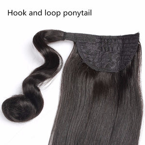 Ponytail Extension (Natural Black  #1B) - tape in clip in hair extensions اکستنشن طبیعی شعر طبيعي