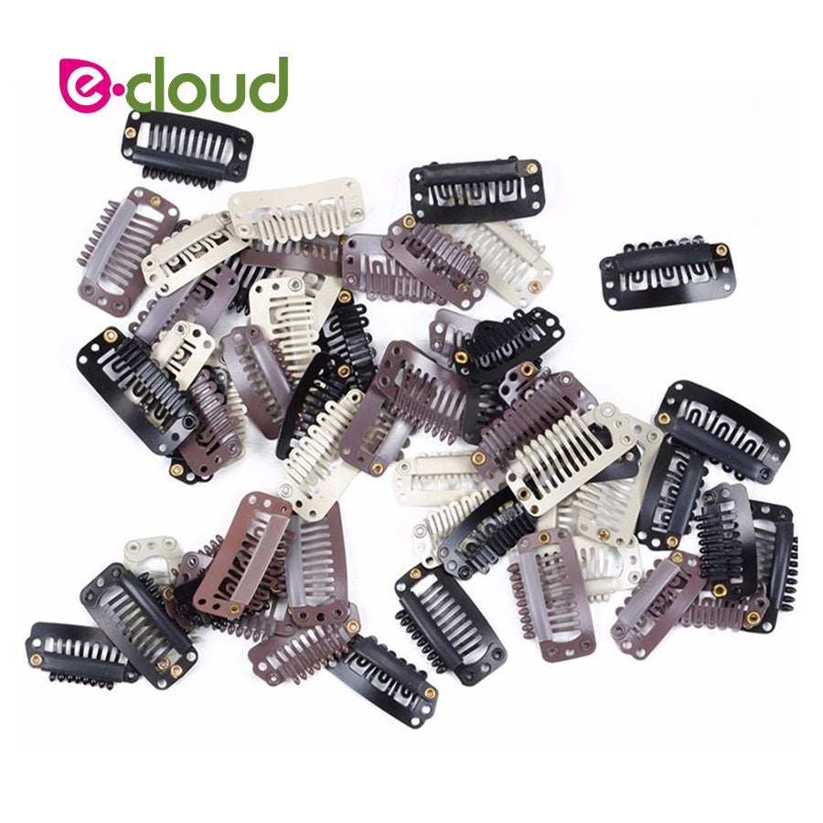 Replacement Clips For Clip in Hair Extensions - tape in clip in hair extensions اکستنشن طبیعی شعر طبيعي