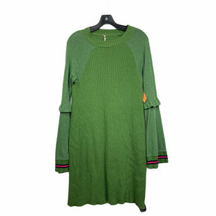 Primary Photo - BRAND: FREE PEOPLE STYLE: DRESS LONG LONG SLEEVE COLOR: GREEN SIZE: M SKU: 207-207278-7186