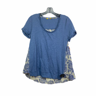 Primary Photo - BRAND: ANTHROPOLOGIE STYLE: TOP SHORT SLEEVE COLOR: BLUE SIZE: S SKU: 207-207256-5084