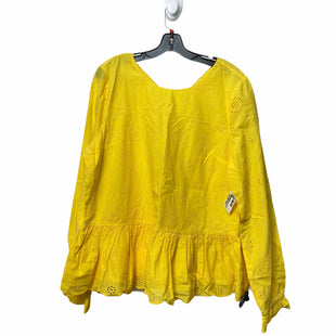 Primary Photo - BRAND: CROWN AND IVY STYLE: TOP LONG SLEEVE COLOR: YELLOW SIZE: XL SKU: 207-207299-3382