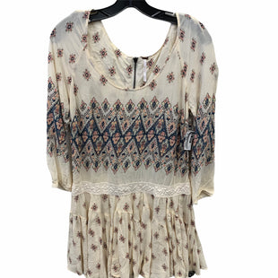 Primary Photo - BRAND: FREE PEOPLE STYLE: DRESS SHORT LONG SLEEVE COLOR: CREAM SIZE: M SKU: 207-207234-4808