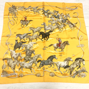 Primary Photo - BRAND: HERMES STYLE: SCARF COLOR: YELLOW OTHER INFO: AS IS -  LIGHT MARKSSKU: 207-207233-18967.