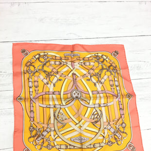 Primary Photo - BRAND: HERMES STYLE: SCARF COLOR: YELLOW OTHER INFO: AS IS -  LIGHT MARKSSKU: 207-20762-58635.