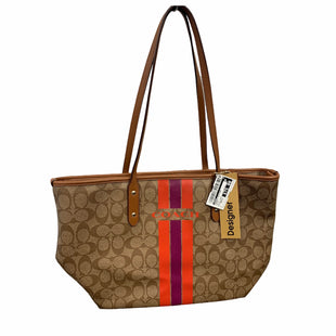 Primary Photo - BRAND: COACH STYLE: HANDBAG DESIGNER COLOR: BROWN SIZE: MEDIUM OTHER INFO: AS IS MODEL NUMBER: VARSITY CITY STRIPE SKU: 207-207139-57620