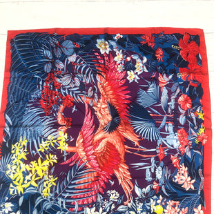 Primary Photo - BRAND: HERMES STYLE: SCARF COLOR: BLUE RED OTHER INFO: AS IS -  LIGHT MARKSSKU: 207-207233-18966.