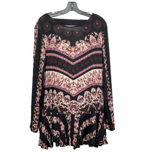 Primary Photo - BRAND: FREE PEOPLE STYLE: DRESS SHORT LONG SLEEVE COLOR: BLACK RED SIZE: L SKU: 207-207278-5005
