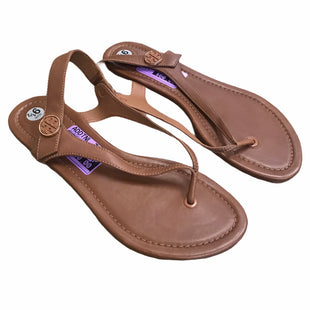 Primary Photo - BRAND: TORY BURCH STYLE: SHOES DESIGNER COLOR: BROWN SIZE: 9.5 OTHER INFO: BRYCE FLAT SKU: 207-207291-1025