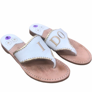 Primary Photo - BRAND: JACK ROGERS STYLE: SHOES DESIGNER COLOR: WHITE SIZE: 8 OTHER INFO: AS IS- I DO WEDDING SANDALS SKU: 207-207287-3270