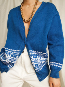 """Avoriaz"" knitted cardigan - lallasshop"