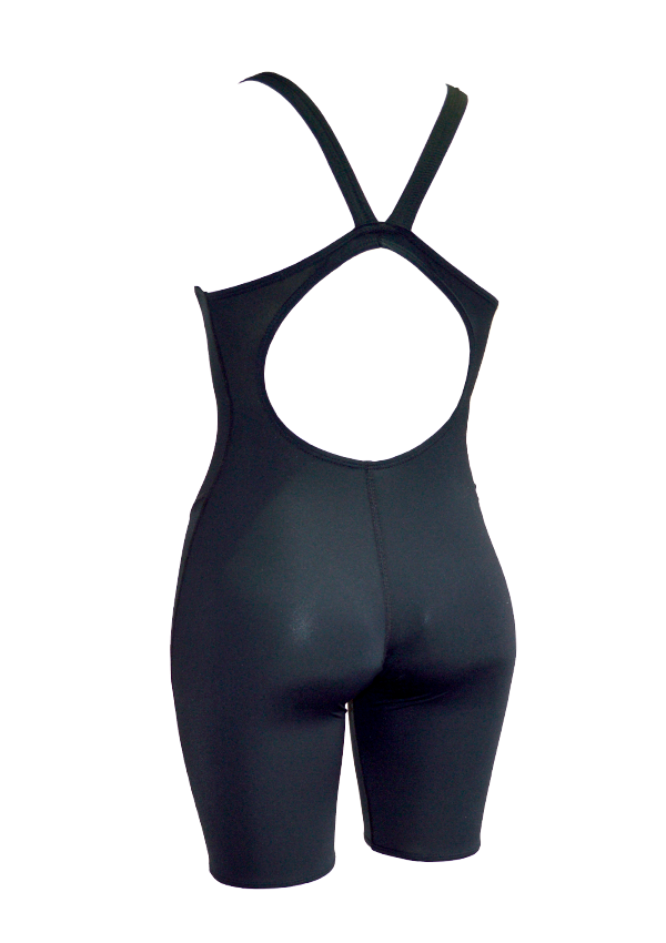 Basic Black Girls Leg Suit - Fashion Fish Swimwear