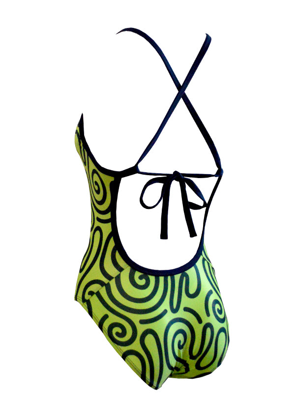 Tribal Green Ladies One Piece
