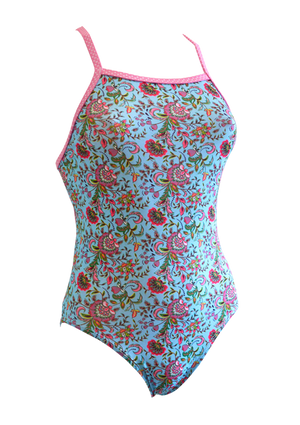 Holiday Bliss Girls One Piece - Fashion Fish Swimwear