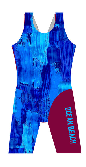 Ocean Beach SLSC Ladies Leg Suit - FashionFishDesigns