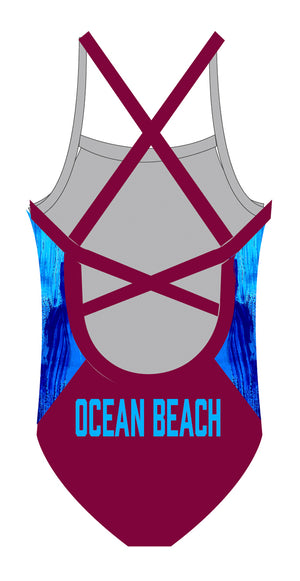 Ocean Beach SLSC Ladies 1 piece - FashionFishDesigns