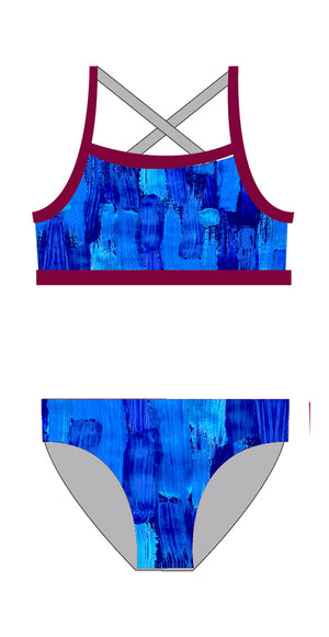 Ocean Beach SLSC Ladies 2 piece - FashionFishDesigns