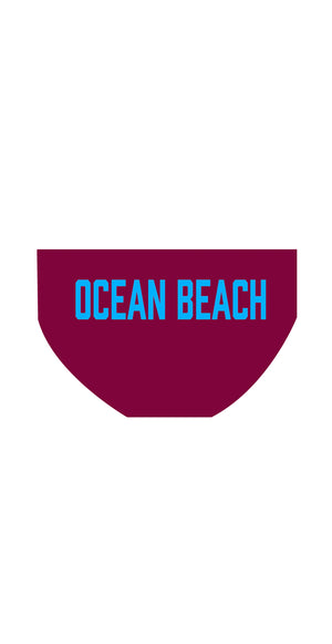 Ocean Beach SLSC Boys/Mens PLAIN Briefs - FashionFishDesigns