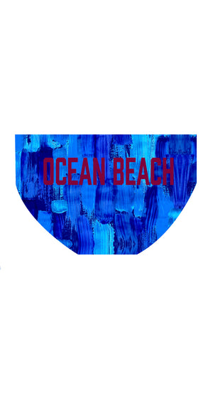 Ocean Beach SLSC Boys/Mens PRINT Brief - FashionFishDesigns