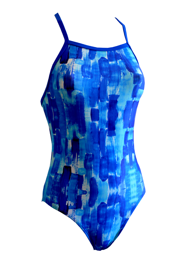 Ocean Blues Ladies One Piece - FashionFishDesigns