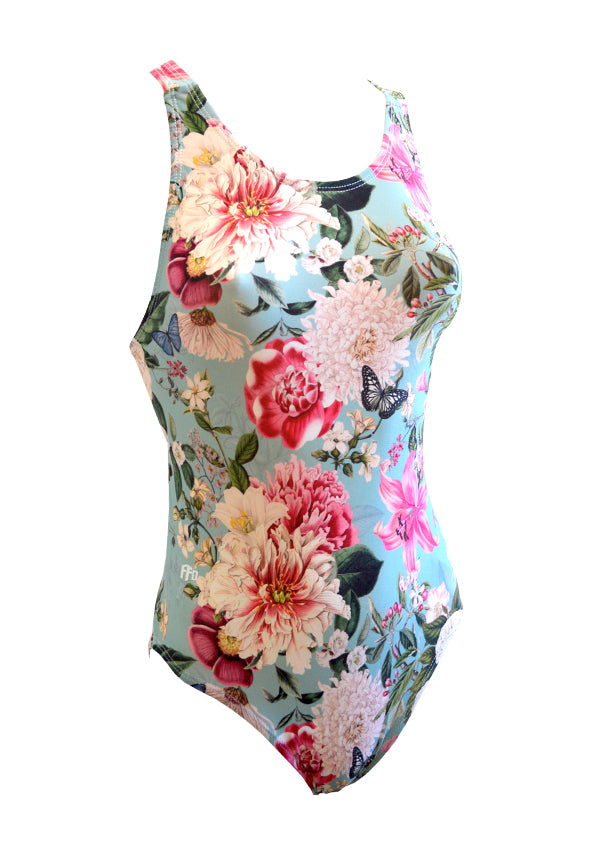 Vintage Floral Girls One piece