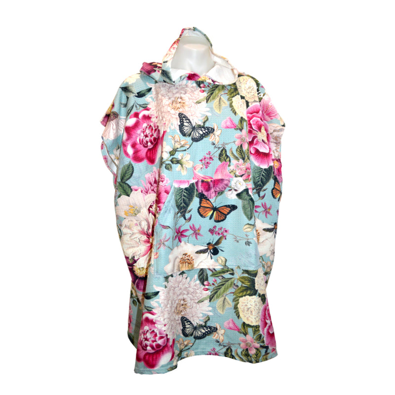 Vintage Floral Hooded Sand Free Towel - Adults