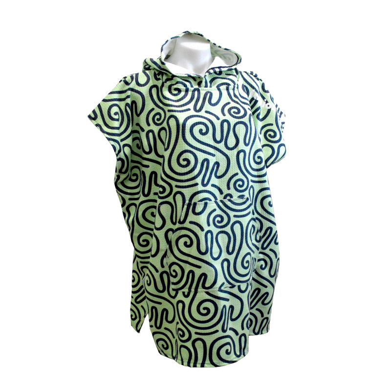 Tribal Green Hooded Sand Free Towel - Adults