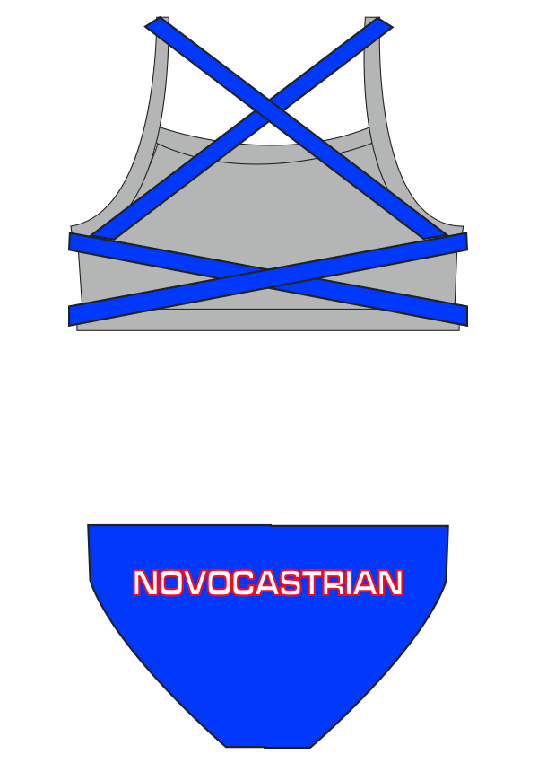 Novocastrian Swim Club Ladies 2 Piece - FashionFishDesigns