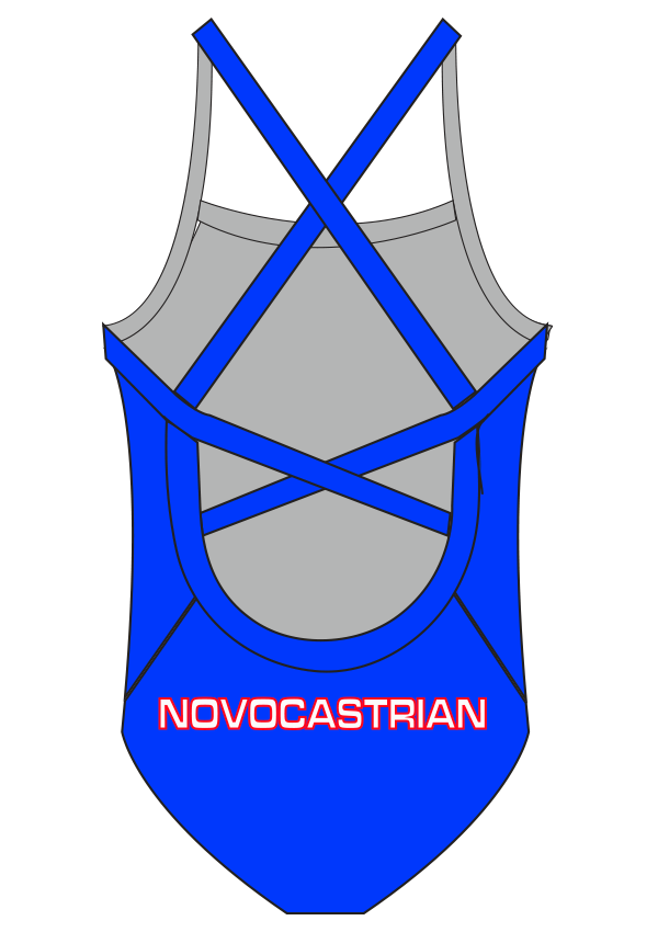 Novocastrian Swim Club Ladies One Piece - FashionFishDesigns