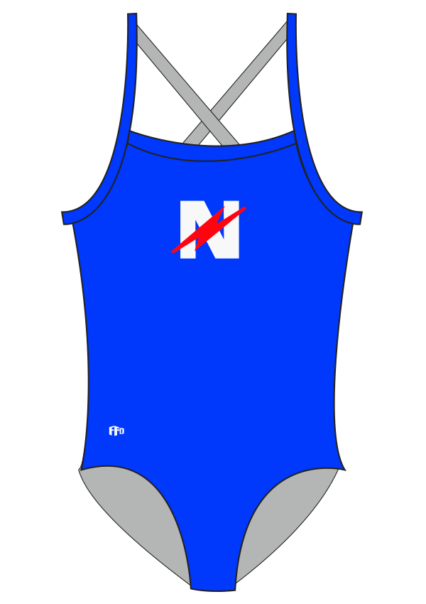 Novocastrian Swim Club Girls One Piece - FashionFishDesigns