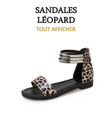 Collection de Sandales Léopard