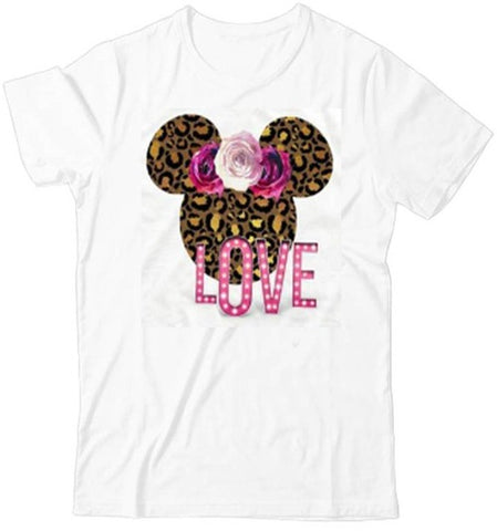 T-Shirt Mickey Léopard Love