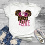 T-Shirt Mickey Panthère Love