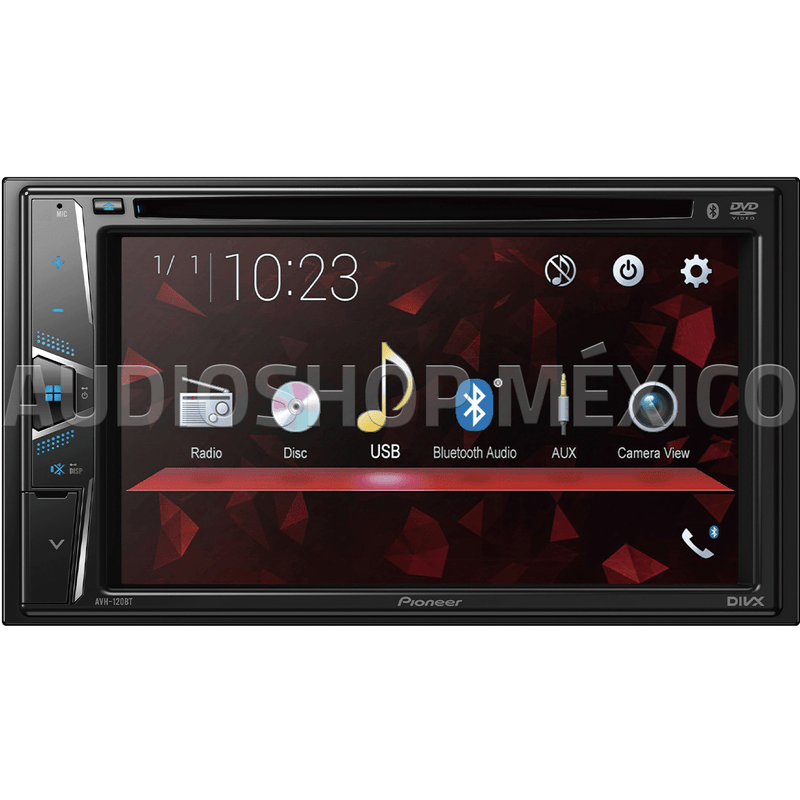Pantalla Autoestéreo Pioneer Avh-120bt Dvd Mp3 Cd Bluetooth Doble Din