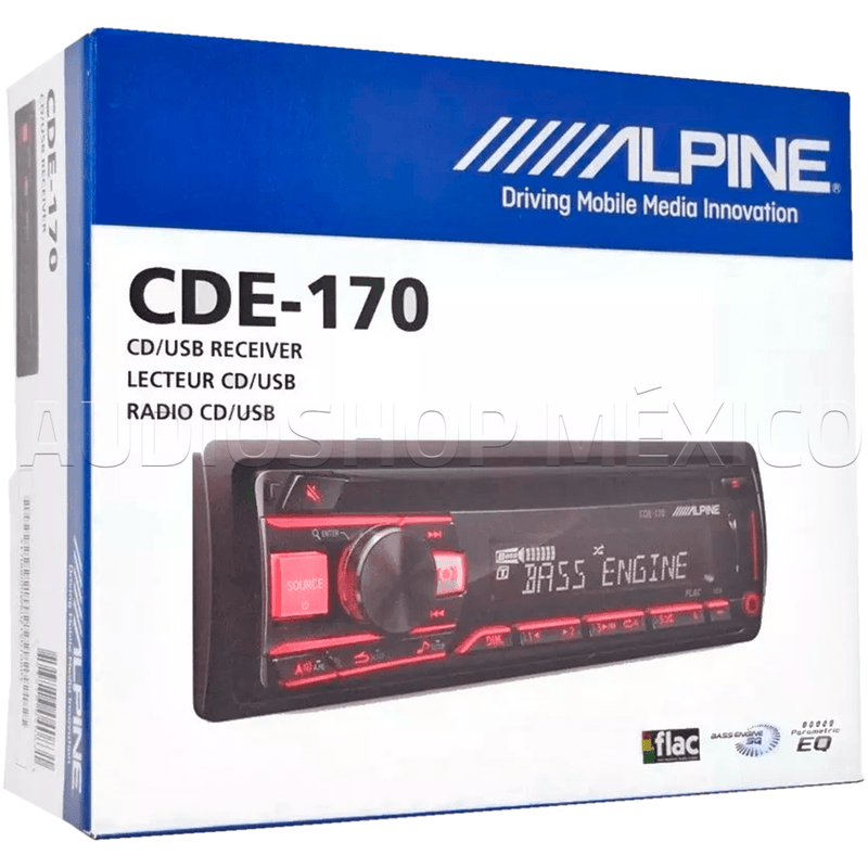 Autoestereo Receptor Cde-170 Cd Usb Aux Audio Alpine