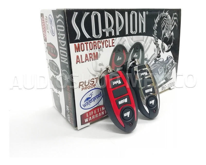 Alarma Para Motocicleta Scorpion Mc-1000 Impermeable Anti-robo 6 Tonos Con Sirena - Audioshop México lo mejor en Car Audio en México -  Scorpion