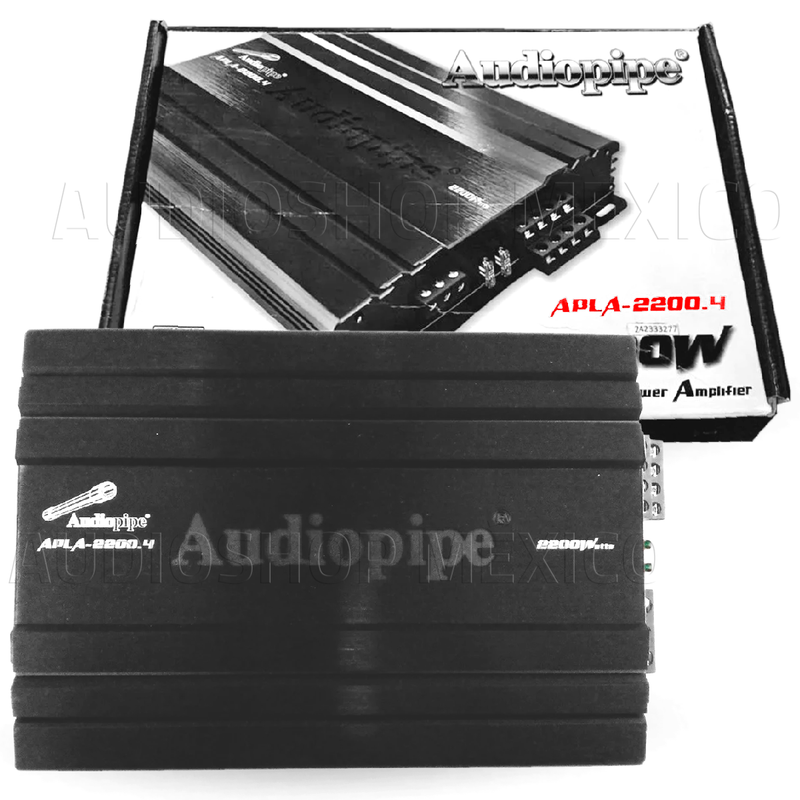 Amplificador Audiopipe APLA-2200.4 Full-Range Clase D 4 canales 2200w