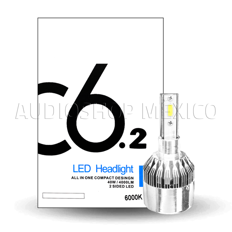 Kit 2 Luces Led C6.2 9005 9006 H7 H11 40 Watts 6000k Calidad