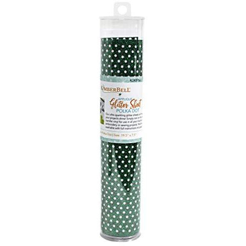 Kimberbell Applique Green Polka Dot Glitter Sheet