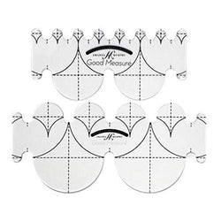 Good Measure - Low Shank Every Clamshell Template Set of 2pcs Quilting Templates by Amanda Murphy