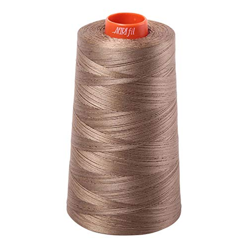 Aurifil 2370 Mako 50 Wt 100% Cotton Thread, 6,452 Yard Cone Sandstone