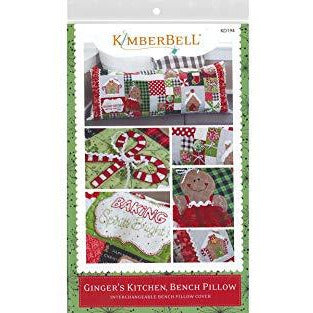 Kimberbell Designs Ginger's Kitchen Bench Pillow - Sewing Version