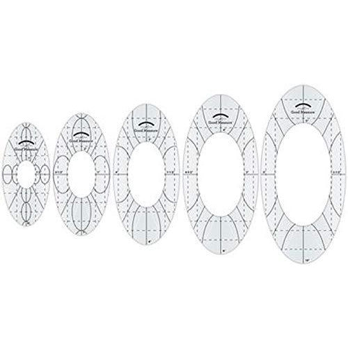Good Measure - Low Shank Every Oval Set of 5 Quilting Templates by Amanda Murphy