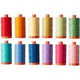 Aurifil CW50PQC12 Christa Quilts Piece and Quilt Colors Thread Kit 12 Large Spools 50 Weight