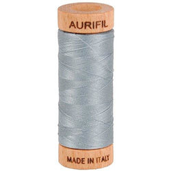 Aurifil 80wt Egyptian Cotton Thread, 306 Yards (280 Meters) (#2610 Lt. Blue Grey)