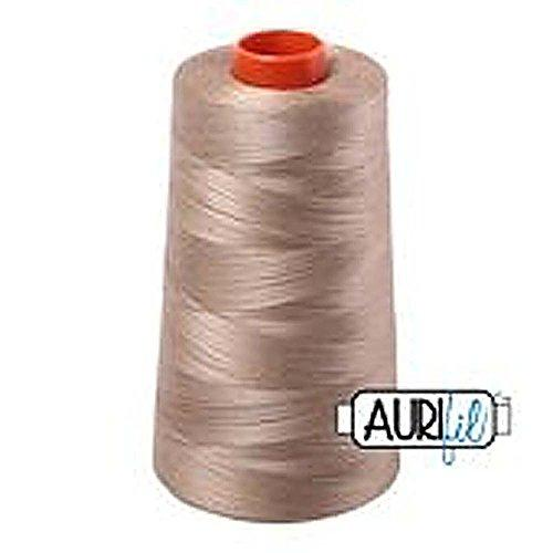 Aurifil 2325 Mako 50 Wt 100% Cotton Thread, 6,452 Yard Cone Linen,Beige