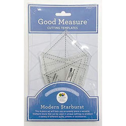 Good Measure - Modern Starburst Cutting Templates 4 pcs by Modern Quilt Studio